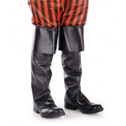 Sur bottes noires simili cuir adulte Accessoires de fête 03026