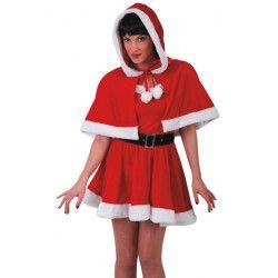 Cape rouge de Mère Noël adulte Accessoires de fête 3040