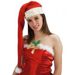Bonnet Noël long et lumineux Accessoires de fête 05876