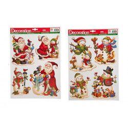 Stickers Noël pour fenêtre modèles assortis Déco festive 09706