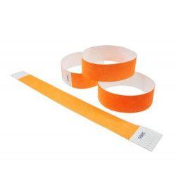 10 Bracelets de contrôle Tyvek 19 mm orange fluo Accessoires de fête TYV1910007