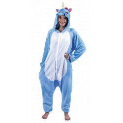 Déguisement Kigurumi licorne bleue adulte taille M-L Déguisements 862300