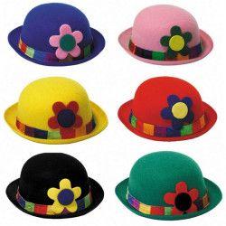 Chapeau melon clown Accessoires de fête 8650910
