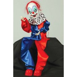 Décoration halloween clown animé à suspendre Déco festive 19585