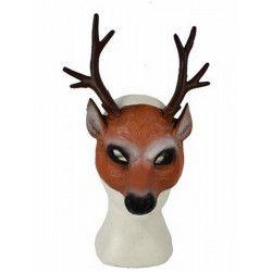 Demi masque cerf marron adulte Accessoires de fête 43693