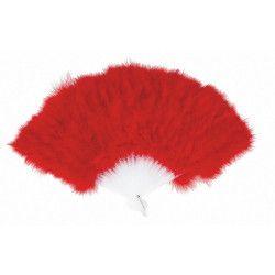Eventail plumes rouges Accessoires de fête 87302205