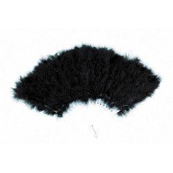 Eventail plumes noires Accessoires de fête 87302203
