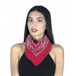 Bandana rouge 56 x 56 cm Accessoires de fête 8653105