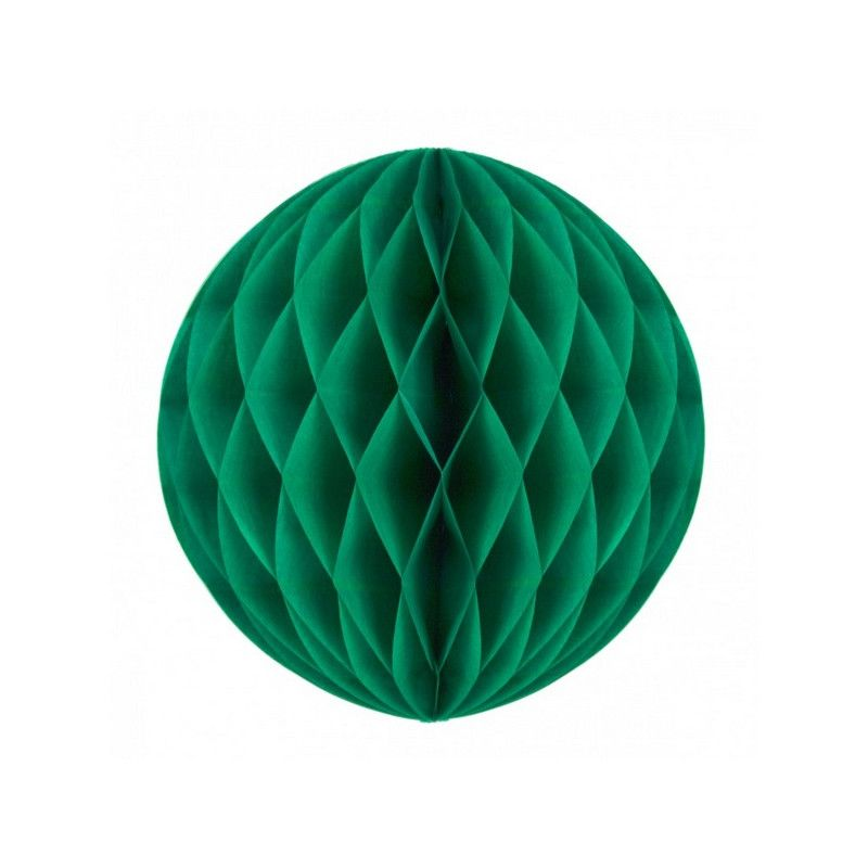 Boule alvéolée verte 30 cm Déco festive 50226L