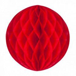 Boule alvéolée rouge 30 cm Déco festive 50229L