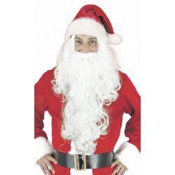 Perruque et longue barbe blanche Père Noël Accessoires de fête 90813