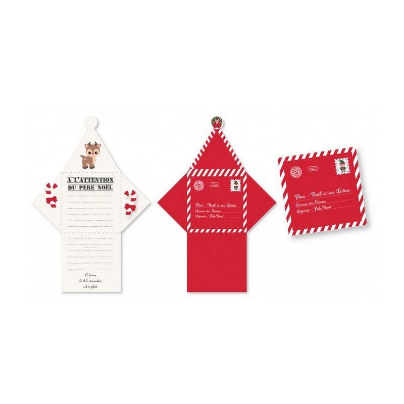 Sachet 2 lettres au Père Noël Sweety Xmas Déco festive 913502