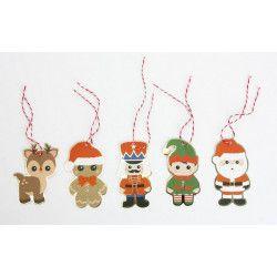 Etiquettes cadeaux Sweety Xmas x 10 Déco festive 913501