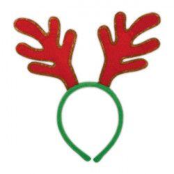 Serre-tête renne rouge Accessoires de fête 395004