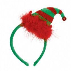 Serre-tête mini bonnet lutin Noël Accessoires de fête 318719