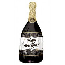 Ballon alu bouteille de champagne Happy New Year 91 cm Déco festive 18435 01