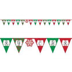 Banderole Noël Merry Christmas 3.8 m Déco festive 120224