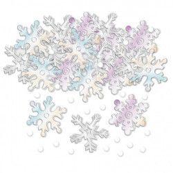 Confettis Noël flocons de neige paillettes 14 g Déco festive 360126