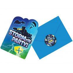 Cartes invitation avec enveloppes et stickers Battle Royal x 8 Déco festive 492412