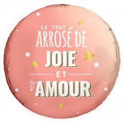 Ballon alu 45 cm - LE TOUT ARROSE DE JOIE ET D'AMOUR Déco festive 36500-27