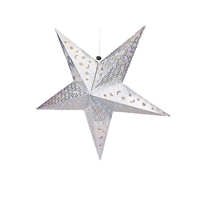 Etoile à suspendre Argent 31 cm Déco festive 14090AR