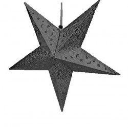 Etoile à suspendre Noire 60 cm Déco festive 14092NO