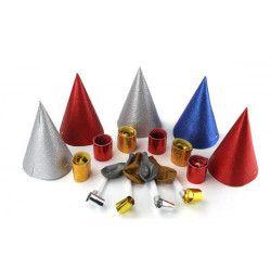 Sachet cotillons glitter 5 personnes avec cavalier Déco festive 21002G