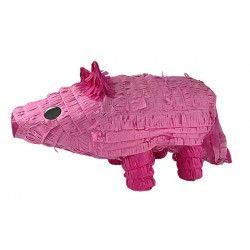 Pinata cochon rose à tirer 46 cm Déco festive 29507