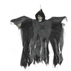 Squelette halloween animé à suspendre 50 cm Déco festive 19719