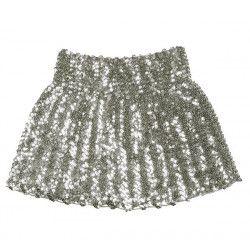 Mini jupe extensible sequins argent femme Accessoires de fête 01722