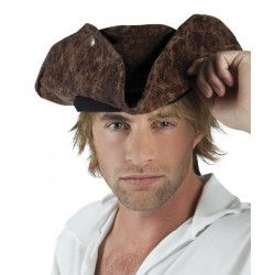Chapeau pirate Neptune marron adulte Accessoires de fête 81899