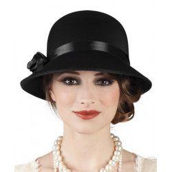 Chapeau noir charleston années 20 femme Accessoires de fête 04309
