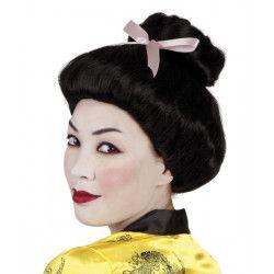 Perruque Geisha noire femme Accessoires de fête 86384
