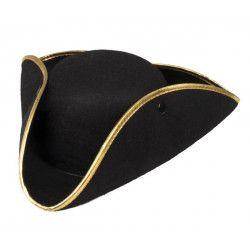 Chapeau tricorne noir Amiral adulte Accessoires de fête 81934