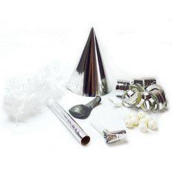 Pochette cotillons métal argent 1 personne Déco festive 21007AR