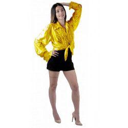 Chemise disco jaune adulte taille XL Déguisements 8653153XL