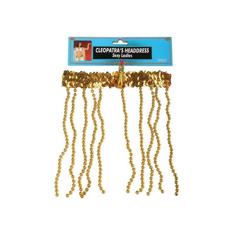 Bandeau sequins avec perles reine du Nil Cléopâtre Accessoires de fête 70875