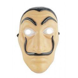 Masque braqueur en plastique adulte Accessoires de fête 72655