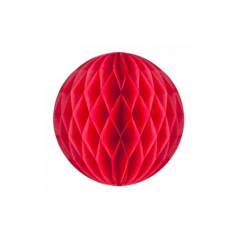 Boule alvéolée corail 20 cm Déco festive 502212M