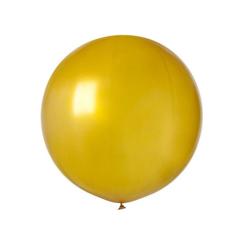 Sachet 1 ballon baudruche géant 80 cm or Déco festive 307733