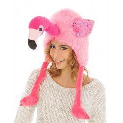Bonnet flamand rose humoristique adulte Accessoires de fête C4423
