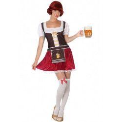 Déguisement bavaroise marron et rouge femme Déguisements 5240-