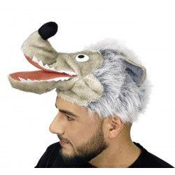 Coiffe tête de loup adulte Accessoires de fête 10250424