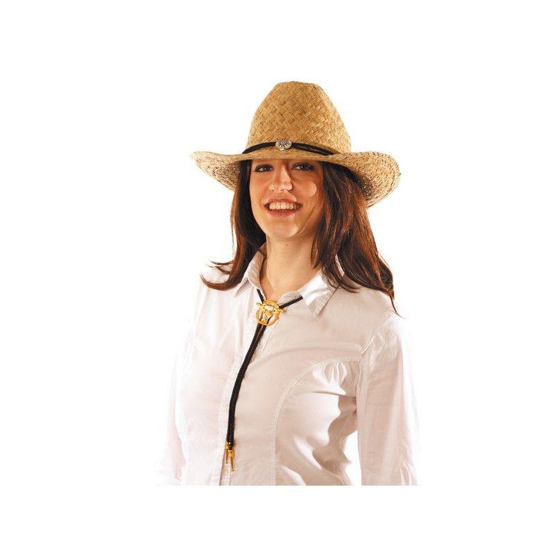 Cravate cowboy avec boucle métal Accessoires de fête 865008