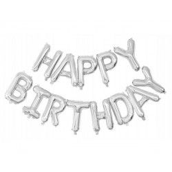 Guirlande ballons mylar lettres Happy Birthday argent Déco festive 333670