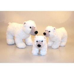 Jouets et kermesse, Peluche ours polaire blanche 42 cm, 20016, 13,90€