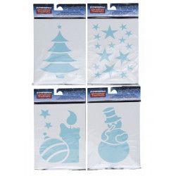 Pochoir Noël plastique réutilisable Déco festive 8200101