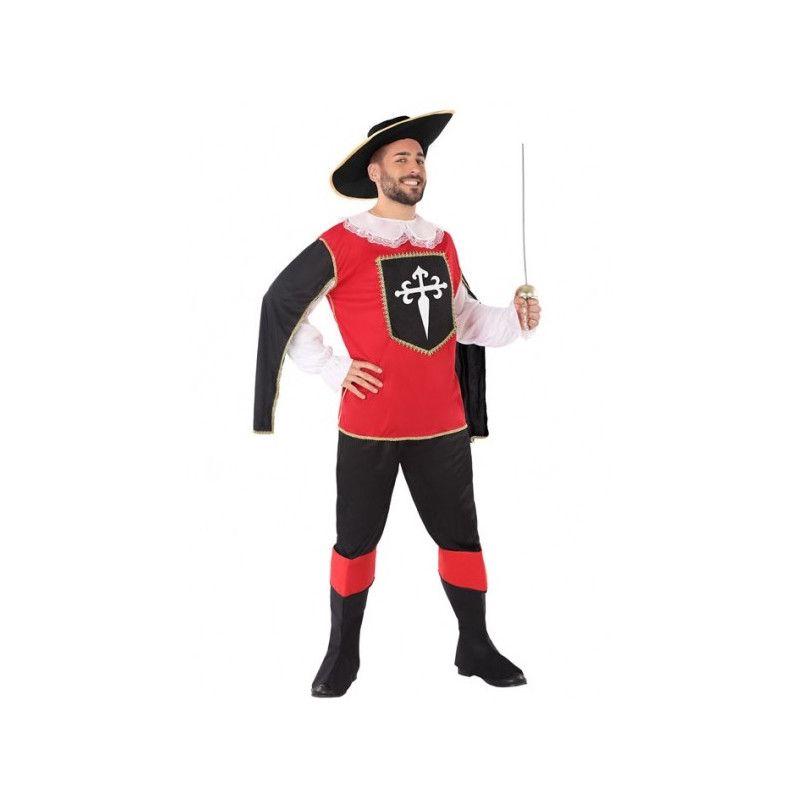 Déguisement mousquetaire rouge et noir homme taille XL Déguisements 62828