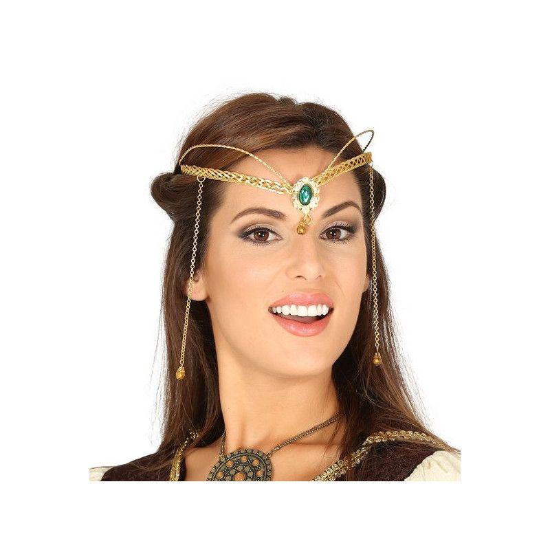 Diadème doré princesse médiévale adulte Accessoires de fête 17381