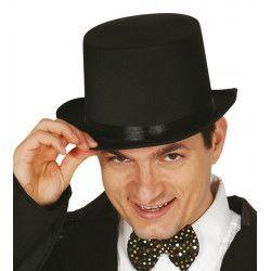 Chapeau haut de forme noir adulte Accessoires de fête 13353